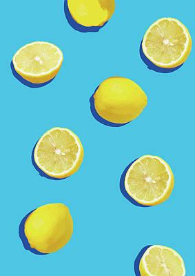 Lemon Pattern Poster by Rafael Farias