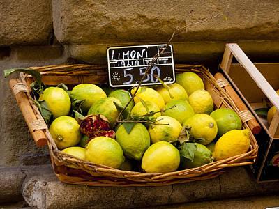 Lemons For Sale Poster by Rae Tucker