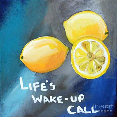 Lemons Poster by Linda Woods
