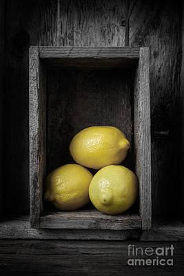 Lemons Still Life Poster by Edward Fielding