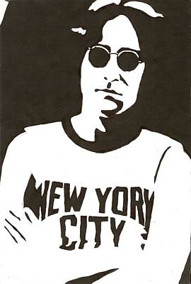 Lennon Poster by Michelle Kinzler