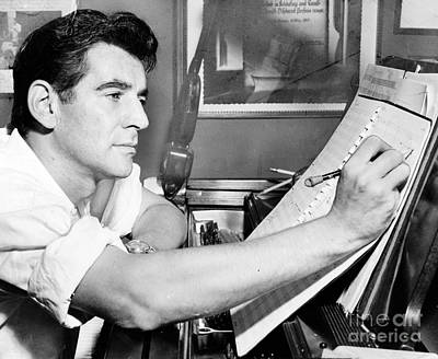 Leonard Bernstein, American Composer Poster by Science Source