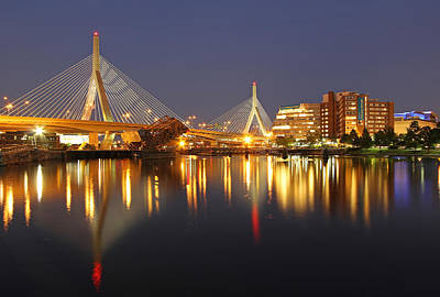 Leonard P. Zakim Bunker Hill Memorial Bridge Poster by Juergen Roth