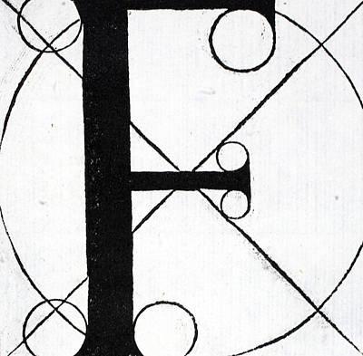 Letter F Poster by Leonardo Da Vinci