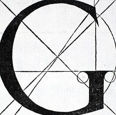 Letter G Poster by Leonardo Da Vinci