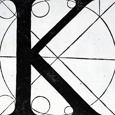 Letter K Poster by Leonardo Da Vinci