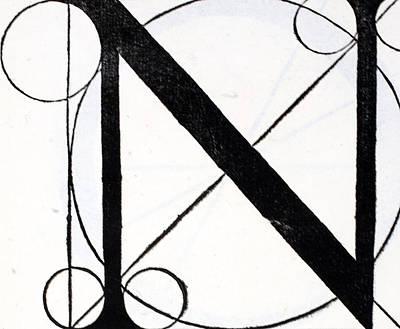 Letter N Poster by Leonardo Da Vinci