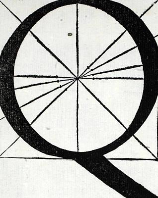 Letter Q Poster by Leonardo Da Vinci
