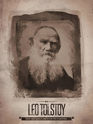 Leo Tolstoy Poster by Afterdarkness