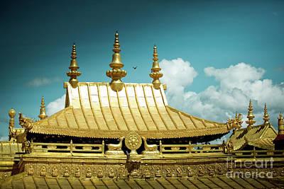 Lhasa Jokhang Temple Fragment Tibet Artmif.lv Poster by Raimond Klavins