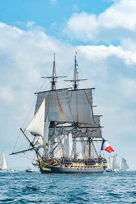 L'hermione Approaching Castine II Poster by Tim Sullivan