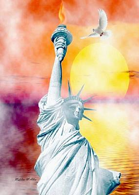 Liberty In The Mist Poster by Madeline  Allen - SmudgeArt