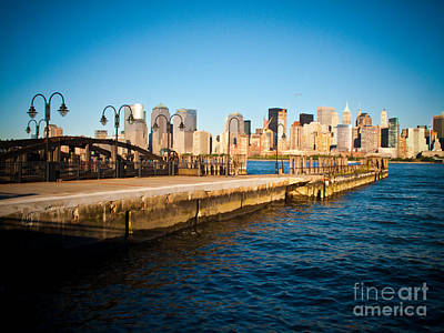 Liberty State Park Pier Poster by Valerie Morrison