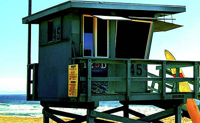Lifeguard Station 45 Poster by Howard Dando