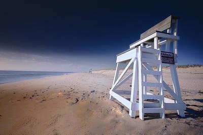 Lifeguard Chair - Nauset Beach Poster by Dapixara Art