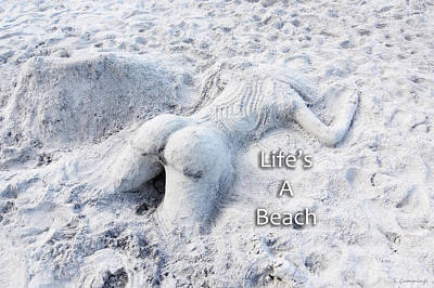 Life's A Beach By Sharon Cummings Poster by Sharon Cummings