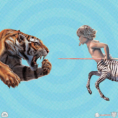 Liger  Swift Hand Poster by David Starr