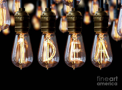 Light Bulb Idea Poster by Setsiri Silapasuwanchai
