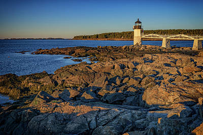 Lighthouse At Marshall Point Poster by Rick Berk
