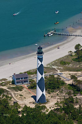 Lighthouse From Above Poster by Betsy Knapp