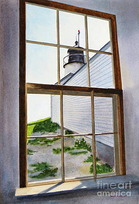 Lighthouse View Poster by Karol Wyckoff