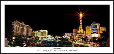 Lighting Up Vegas Poster Print Poster by Az Jackson
