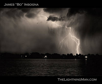 Lightning Energy Poster Print Poster by James BO  Insogna