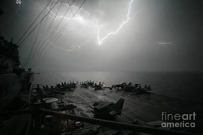Lightning Strikes Poster by Celestial Images