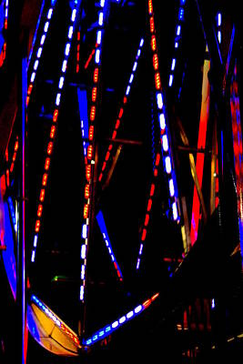 Lights Of The Ferris Wheel Poster by Dana  Oliver