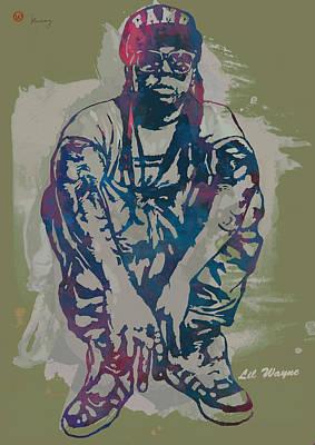 Lil Wayne Pop Stylised Art Poster Poster by Kim Wang