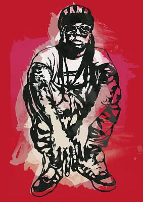 Lil Wayne Pop Stylised Art Sketch Poster Poster by Kim Wang