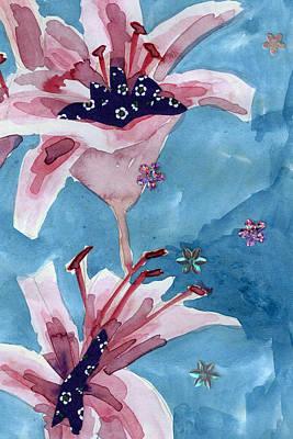 Lilies Portrait Poster by Geckojoy Gecko Books