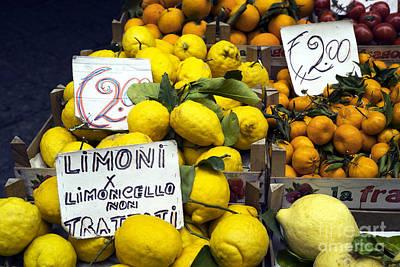 Limoni Poster by John Rizzuto