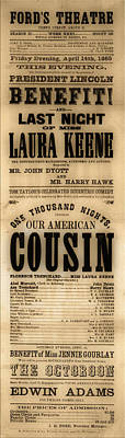 Lincoln Assassination Poster by Andrew Fare