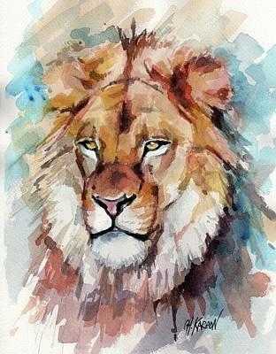 Lion Poster by Christine Karron