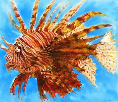 Lion Fish Poster by David Raderstorf