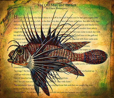 Lion Fish Poster by John K Woodruff