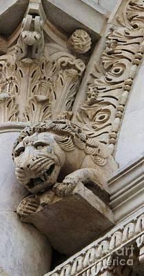 Lion Gargoyle Italian Renaissance Poster by Cimorene Photography