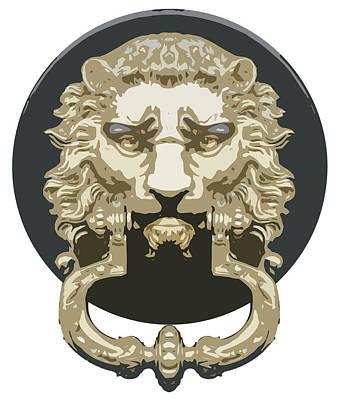 Lion Knocker Poster by Greg Joens