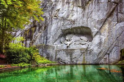 Lion Of Lucerne Poster by Carol Japp