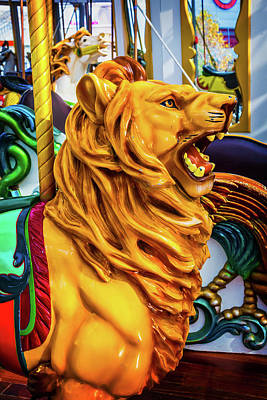 Lion Ride Poster by Garry Gay