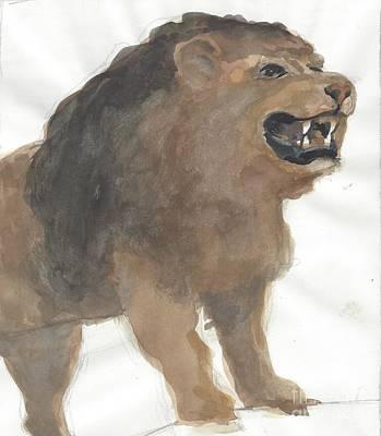 Lion Poster by Robert Bowden