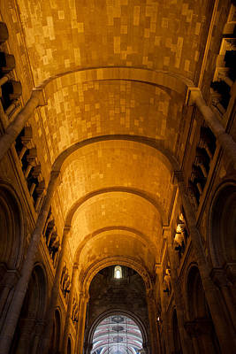 Lisbon Cathedral Interior With Barrel Vault Poster by Artur Bogacki