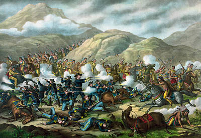 Little Bighorn - Custer's Last Stand Poster by War Is Hell Store