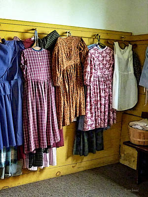Little Girl's Gathered Dresses Poster by Susan Savad