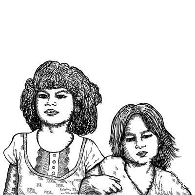 Little Girls Poster by Karl Addison