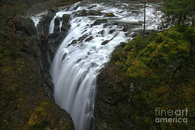 Little Qualicum Lower Falls Landscape Poster by Adam Jewell