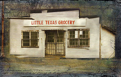 Little Texas Grocery Poster by Bellesouth Studio