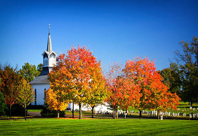 Little Zion Church In The Fall Poster by Carolyn Derstine