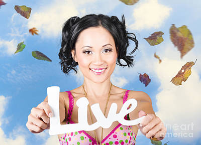 Live. Motivational Words From A Life Coach  Poster by Jorgo Photography - Wall Art Gallery